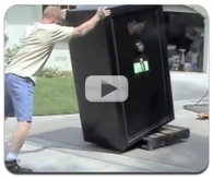 Leveraging a huge 800 pound safe video