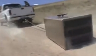 Liberty Safe Gun Safe in Drag Test Video