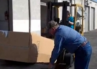 Loading a gun safe on a trailer video