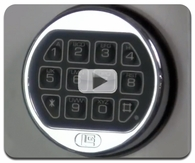 Opening, changing the combination and battery on a La Gard LG Basic electronic Safe Lock Video
