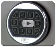 Opening, changing the combination and battery on a La Gard LG Basic electronic Safe Lock
