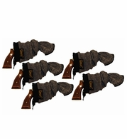 Sack-Ups Gun Socks for Pistols - Five Pack