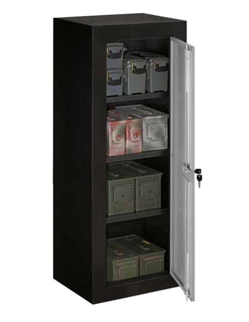 Stack On Ammo Security Cabinet With Reinforced Shelves