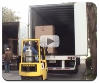 Unloading a truck of safes