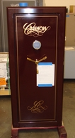 Used Cannon CA-18 gun safe in Burgundy