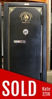Used sportsman steel 6330 gun safe with fire liner