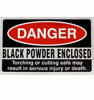 Warning Sticker<br>Danger Black Powder