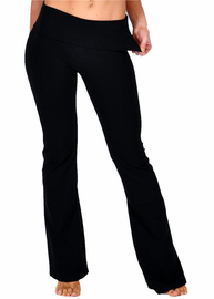 Women's Good Karma Foldover Yoga Pants
