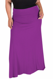 Women's Plus Size Long Flowy Skirt