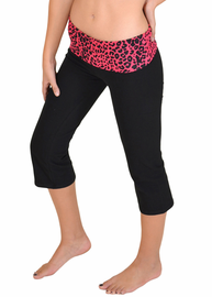 Women's On Track Two-Toned Capri Yoga pants