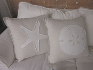Beach Pillows White Sand Series
