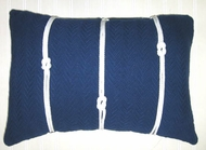 Blue Knot Pillow