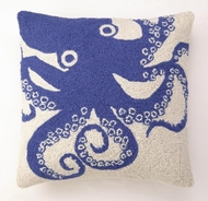 Blue Octopus  Hook Pillow