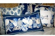 Blue Seashell Pillows