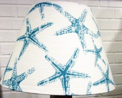 Aqua Blue Starfish Lampshade