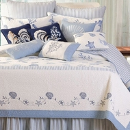 Blue Twin Seashell Quilt Shore House