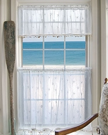 Coastal Curtains Tier White Shell Small 45x24