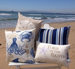 Coastal Indoor Outdoor Pillows Waterside Retreat