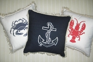 Crab, Lobster Anchor Pillows