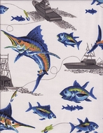 Curtain panel Blue Marlin