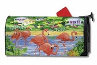 Flamingo Mailbox Cover