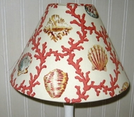 Hampton  Coral and Seashell Lampshades