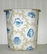 Hamptons Blue Wastebasket
