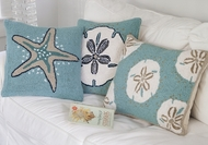 Hooked Seashell Pillows