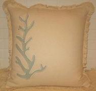 Island View  Blue Coral Pillow 22x22