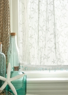 White Lace Aqua Beaded Starfish Curtains