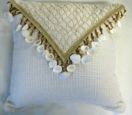 Laguna Coastal Pillow Seashell and Net