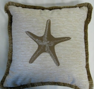 Malibu Coastal Pillow Tan Starfish