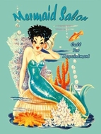 Mermaid Salon Metal sign