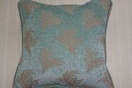 Mint Green Coral Pillow