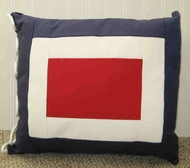 Nautical  Code Flag Pillow Whiskey