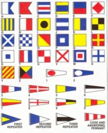 Nautical Code Flag Pillows All Letters and numbers Available