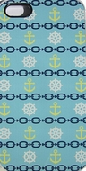 Nautical IPhone Case Light Blue Anchors