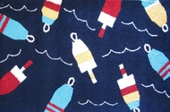 Nautical Rug Navy Buoys