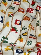 Nautical Valance Nautical Flags White
