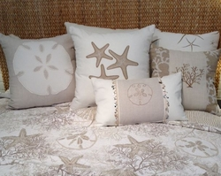Queen Coastal Quilt White Coral