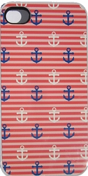 Red Anchor Iphone Case