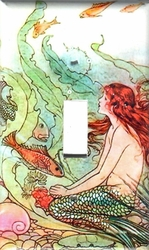 Red Mermaid Switchplates