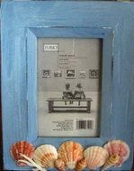 Rustic Picture frame Cottage Blue