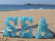 Sea Glass Letters and Initials