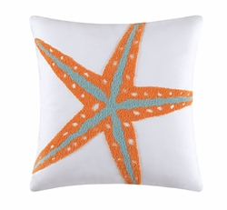 Seaglass Coastal Pillow Starfish