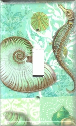 Seahorse and Seashell switchplates
