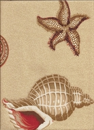 Seashell Curtain Panel Along The Shore 53x84