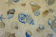 Seashell Curtain Panel Beachcomber