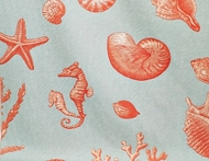 Seashell Curtain Panel Island View