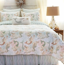 Seaside Mermaid Twin Quilt only 2 left